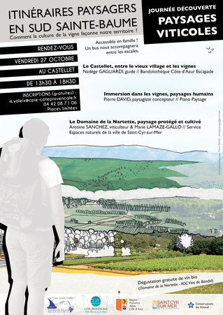 Partez à la découverte de l'histoire des paysages viticoles  le vendredi 27 octobre 2017 au Castelle