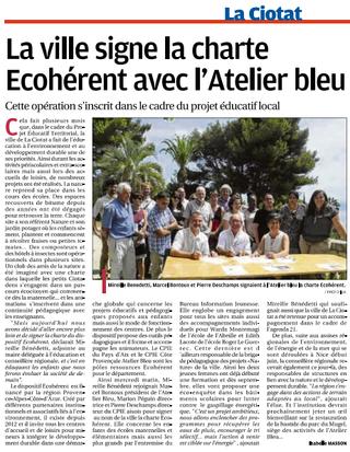 Ecohérent: La Ciotat a signe officiellement la charte