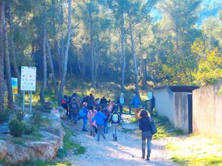 Les 5e du collège du Roy d'Espagne se rendent à la Fontaine de Voire