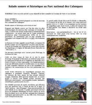 Inauguration du sentier de découverte de la Fontaine de Voire : La presse en parle!