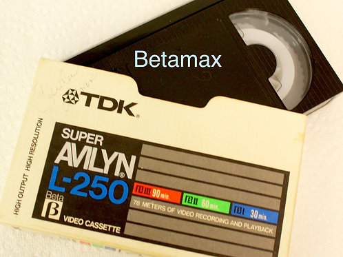 BetaMax transferred to DVD!   $15.00 / tape