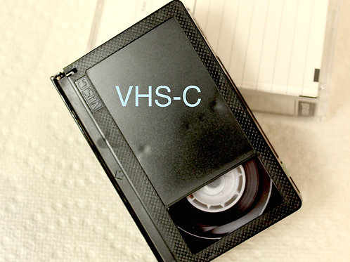 VHS-c Tape Transferred to DVD!      $15.00 / tape