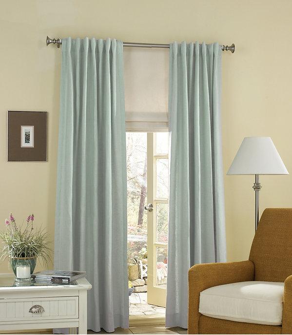 cortina jaretas por detras persiana facil