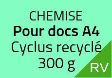 Copie de 300 Chemises 21.5 X 31 cm. Cyclus recyclé 300 g. Couleur recto verso