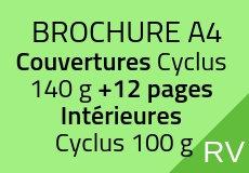 500 Brochures A4. 16 pages couverture comprise Cyclus 100 g