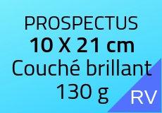 2000 Prospectus 10 x 21 cm. Couché brillant 130 g. Couleur recto verso