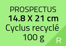 2000 Prospectus 14.8 x 21 cm. Cyclus recyclé 100 g. Couleur recto