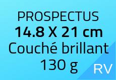 400 Prospectus 14.8 x 21 cm. Couché brillant 130 g. Couleur recto verso