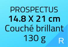 1000 Prospectus 14.8 x 21 cm. Couché brillant 130 g. Couleur recto
