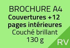 300 Brochures A4. Couverture Cyclus 140 g+12 pages intérieures Cyclus 100 g