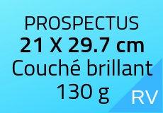 5000 Prospectus 21 x 29.7 cm. Couché brillant 130 g. Couleur recto vers