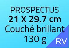 2000 Prospectus 21 x 29.7 cm. Couché brillant 130 g. Couleur recto verso