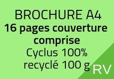 1000 Brochures A4. 16 pages couverture comprise Cyclus 100 g