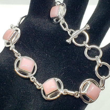 Pink Opal Symbol Bracelet