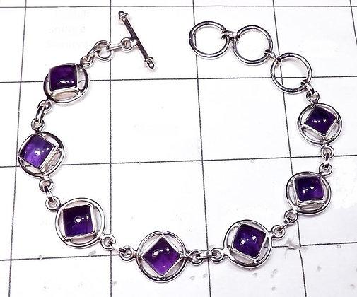 Amethyst Symbol Bracelet