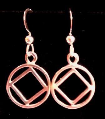One Symbol Dangle Earring