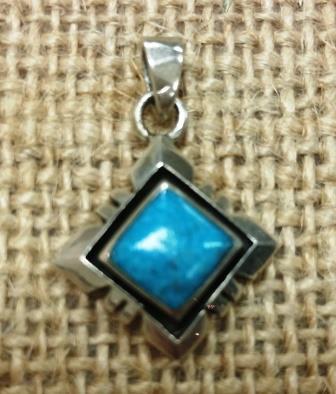 Square Turquoise Pendant