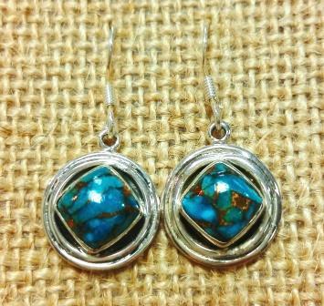 Turquoise Symbol Earrings