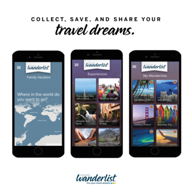 Collect, Save and Share Your Travel Dreams