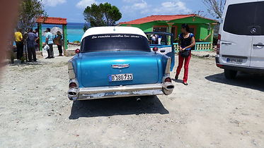1957 Chevy - Prayer Changes Things windo