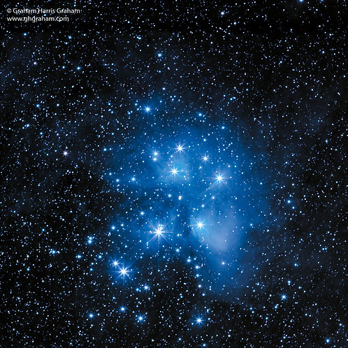 Pleiades Open Star Cluster (Print Only)