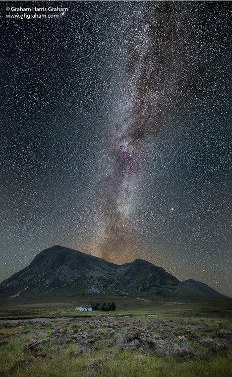 Milky Way Over Lagangarbh, Rannoch Moor, Lochaber (Print Only)
