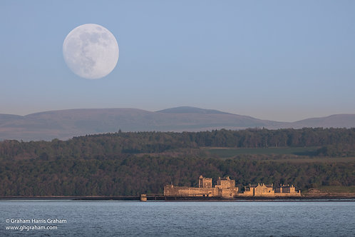 Blackness Castle, Supermoon Over Blackness (Print Only)
