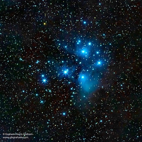 Pleiades Open Star Cluster (Framed)