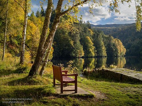 Bench Time, Loch Faskally (Print Only)