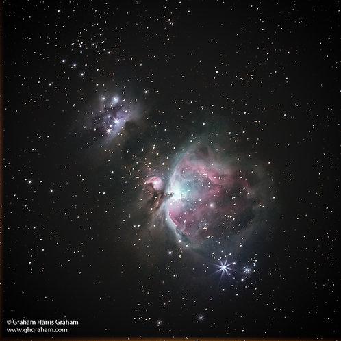 Orion, Orion & Running Man Nebulae (Print Only)