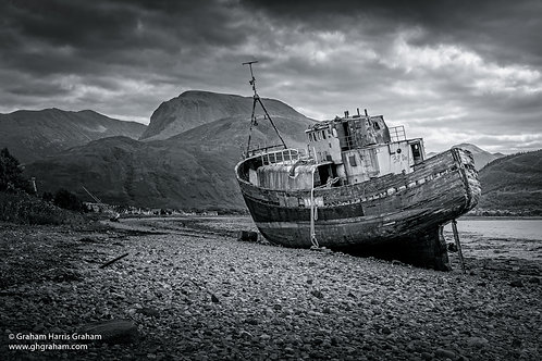 Abandoned Trawler, Corpach, Lochaber (Print Only)