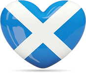 Saltire heart shape