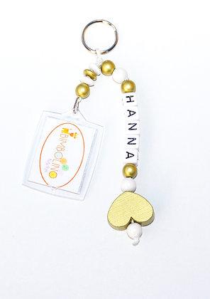Sleutelhanger met naam en foto als leuk cadeau www.bimbolino.be