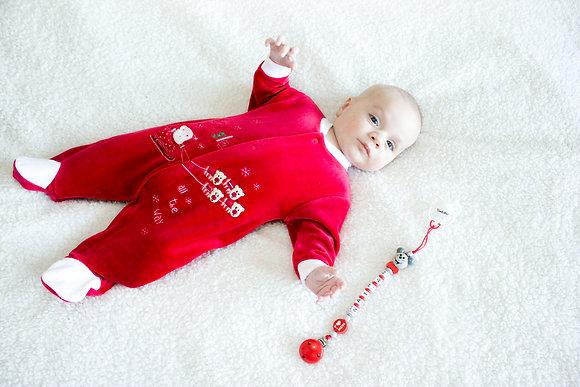 Kerst Pyjama + Speenkoord