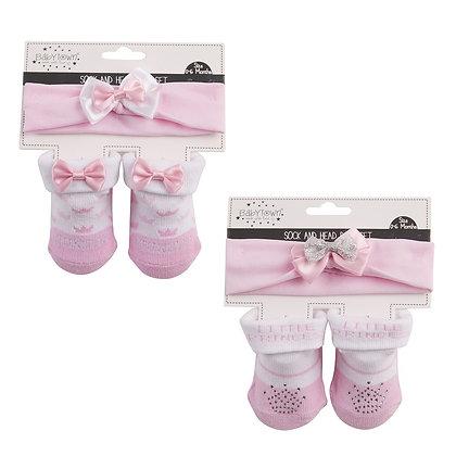 Little Princess babysokjes met haarbandje 0-6 mnd - 6-12 mnd www.bimbolino.be