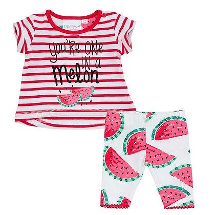 T-shirt - Legging  - Watermeloen