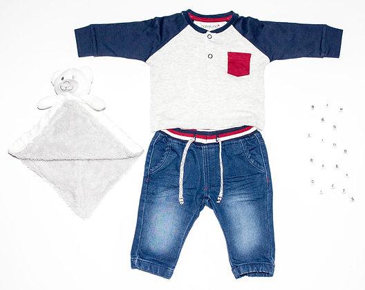 Set Babyjongen T-shirt Met Denim Jeans www.bimbolino.be