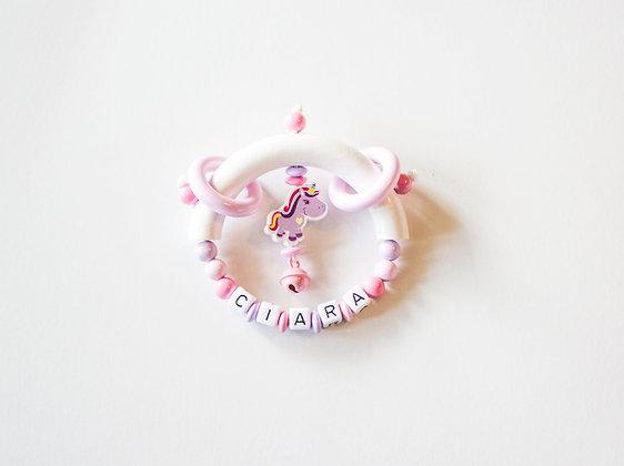 Unicorn Roze/Paars Rammelaar