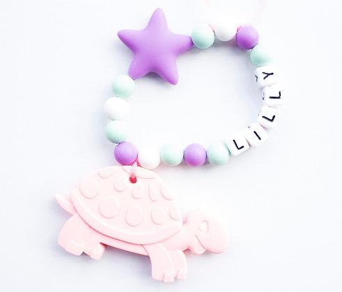 bijtringen met naam van silicone verzacht de pijn van doorkomende tandjes bij baby's. bimbolino.be