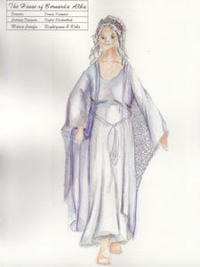 Night Gown and Lace Robe