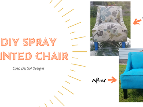 How to Spray Paint an Upholstered Chair