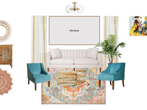 Designing a Colorful Modern Boho Living Room