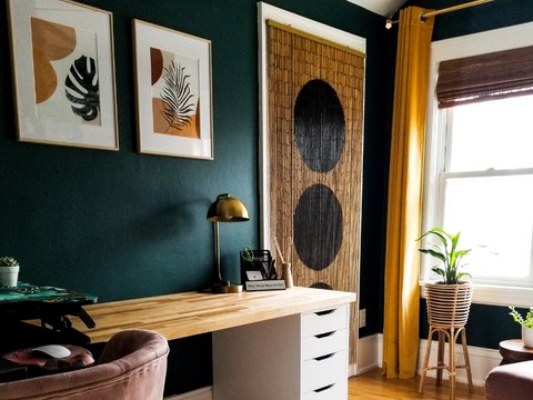Boho Home Office Reveal