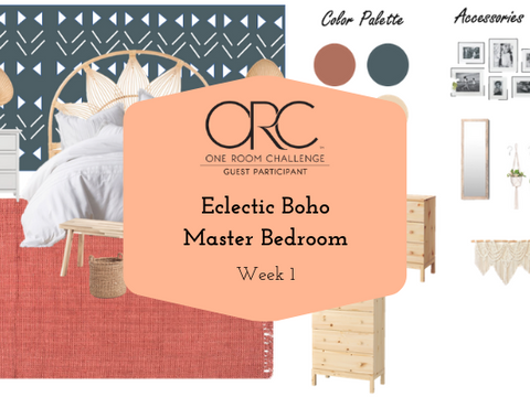 Eclectic Boho Master Bedroom | Fall 2020 One Room Challenge - Week 1