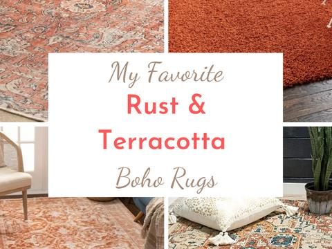 Rust & Terracotta Boho Rug Roundup