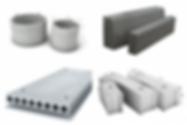 фундаментні блоки (ФБС), бетонні кільця, бордюри, плити, залізобетонні вироби