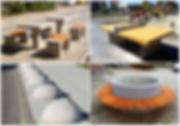 шахові столи, тенісні столи з бетону, антипаркувальні сфери, вуличні лавки