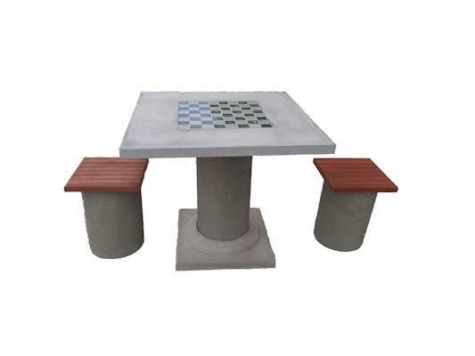 Столик шаховий люміній