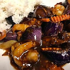 Shrimp and Eggplant