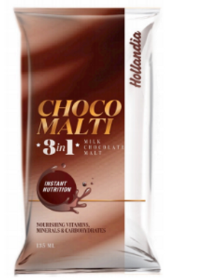 Hollandia choco Malti 3in1 chocolate color packaging exploration